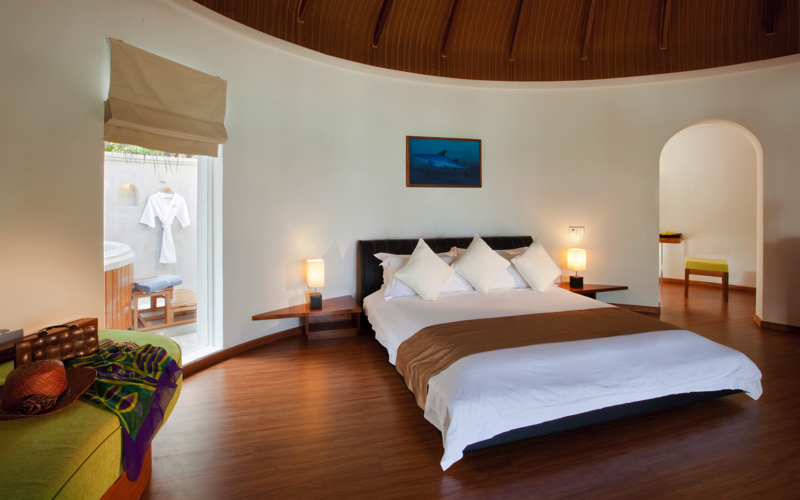 Superior Beach Villa interior view, Kuramathi