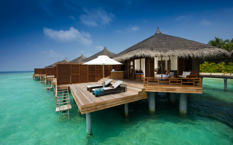 Water villa at Kuramathi island resort