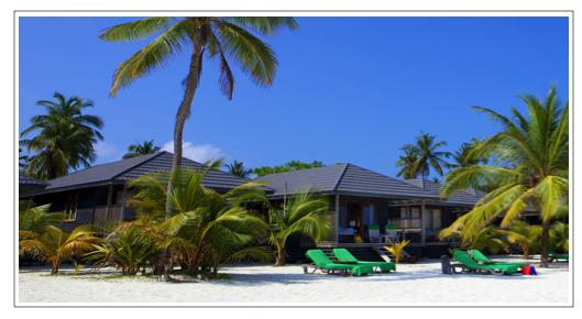 Kuredu island resort beach