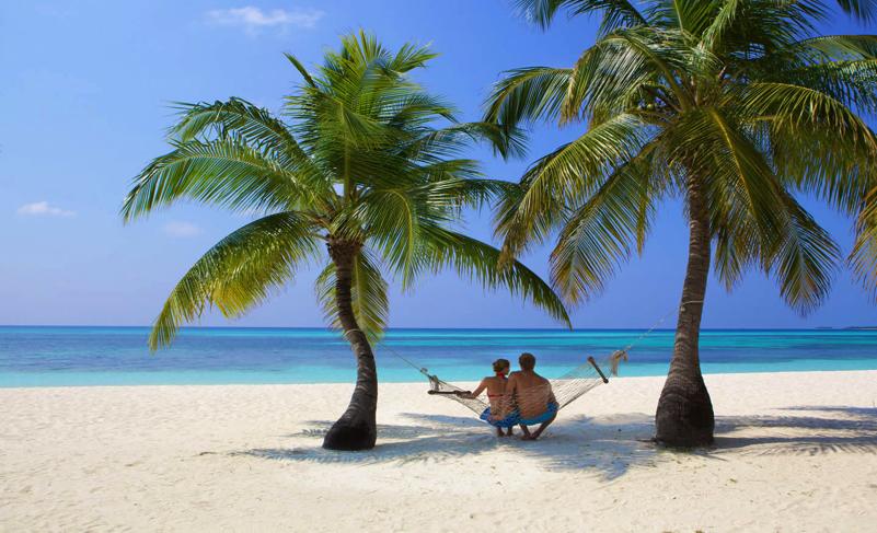 Relaxing at Kuredu Island Resort, Maldives