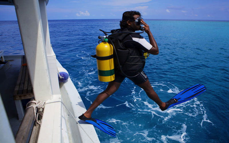 Diving at Kuredu Island Resort