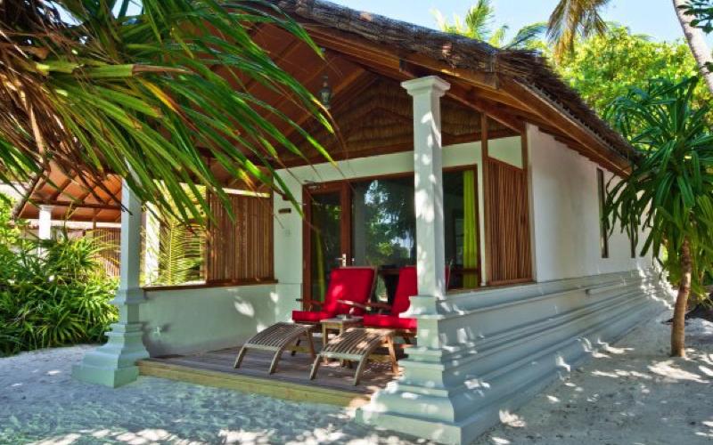 Beach villa at Reethi Beach Maldives