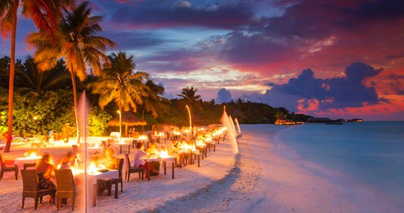 Conrad Maldives Rangali Island beach restaurant