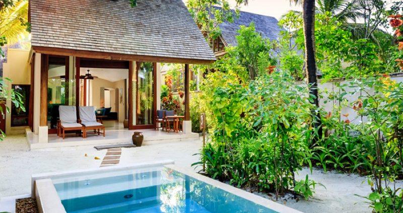 Conrad Maldives Rangali Island Beach villa with pool