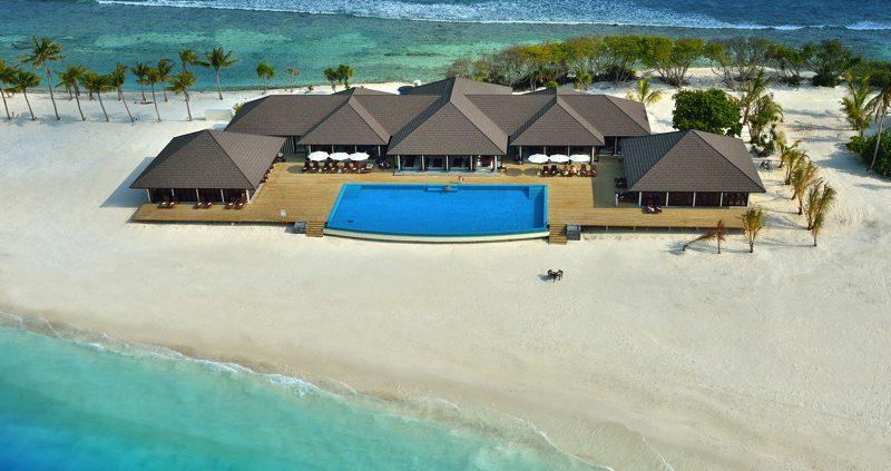Atmosphere Kanifushi Maldives - The Sunset Bar aerial view