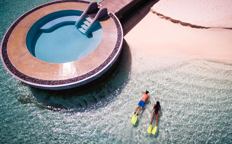 snorkeling at Huvafen Fushi by Per Aquum
