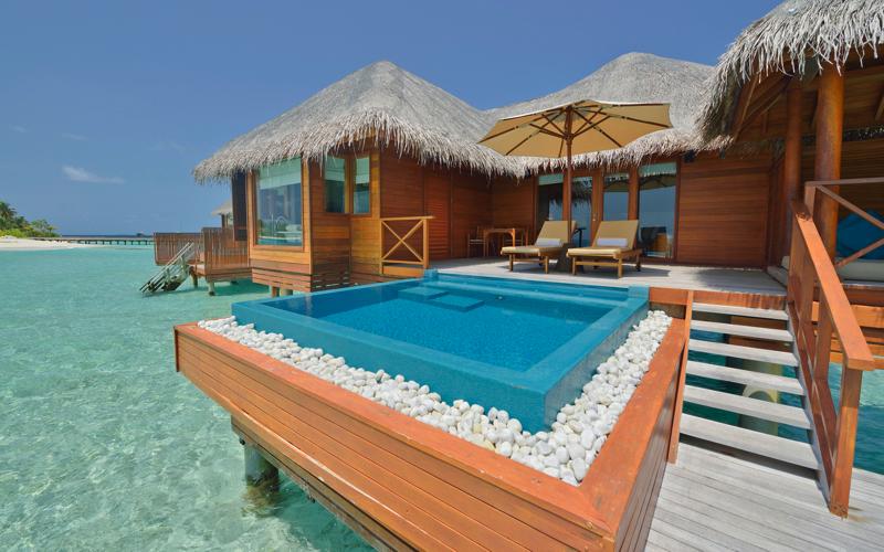 Huvafen Fushi water villa with pool