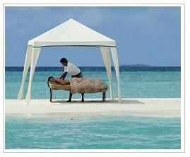 Island massage at Four seasons resort Maldives