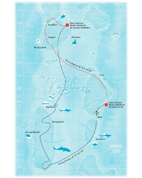 Map of cruise_on four seasons Explorer Yacht