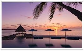 Serenity pool at Four seasons resort Maldives