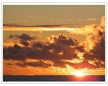 Sunset at Four seasons resort Maldives