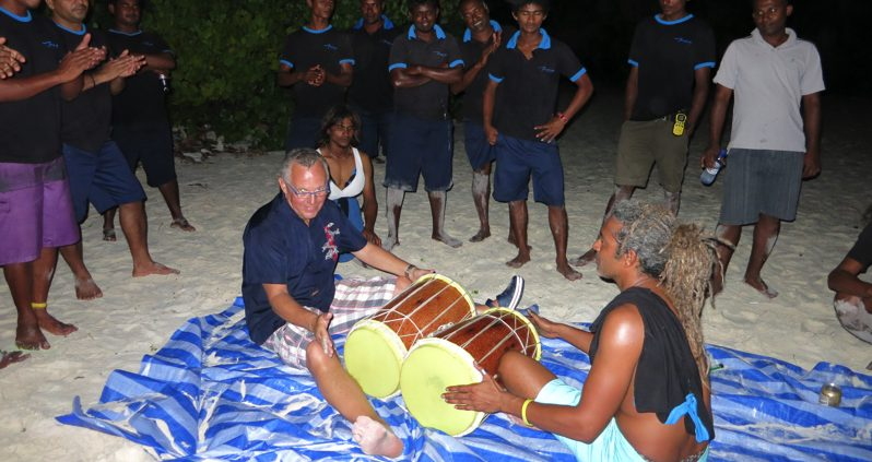 Evening entertainment - boduberu in the Maldives