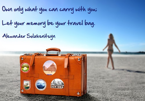 Inspirational travel quote - Memory