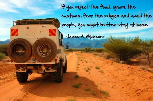 Inspirational travel quote - reject