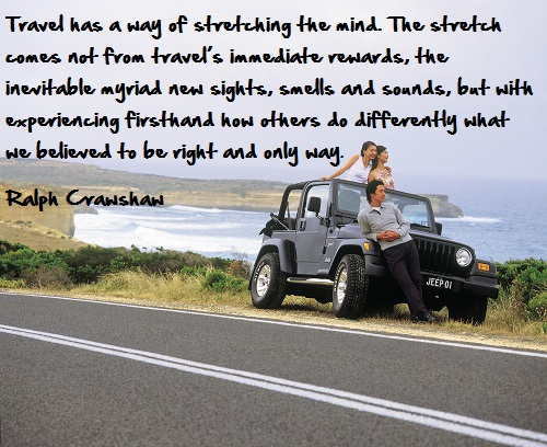 Inspirational travel quote - stretch mind