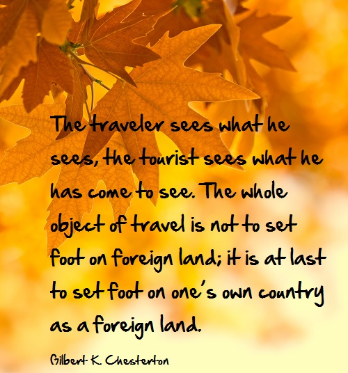Inspirational travel quote - tourist