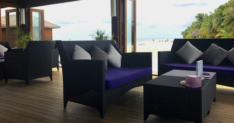 Spa area at Vilamendhoo Island Resort