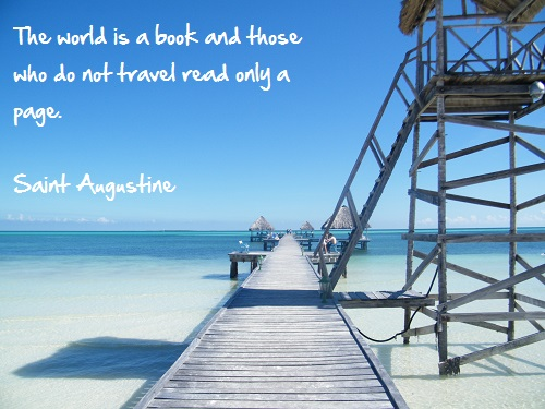 Inspirational travel quote - Book