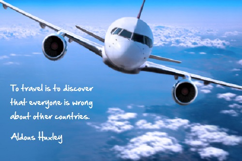 Inspirational travel quote - discover