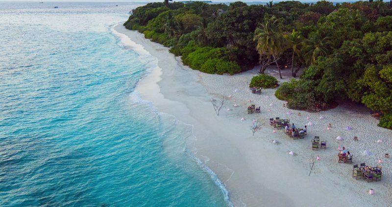 Soneva_Fushi_Island_Resort - By_The_Beach_aerial_view