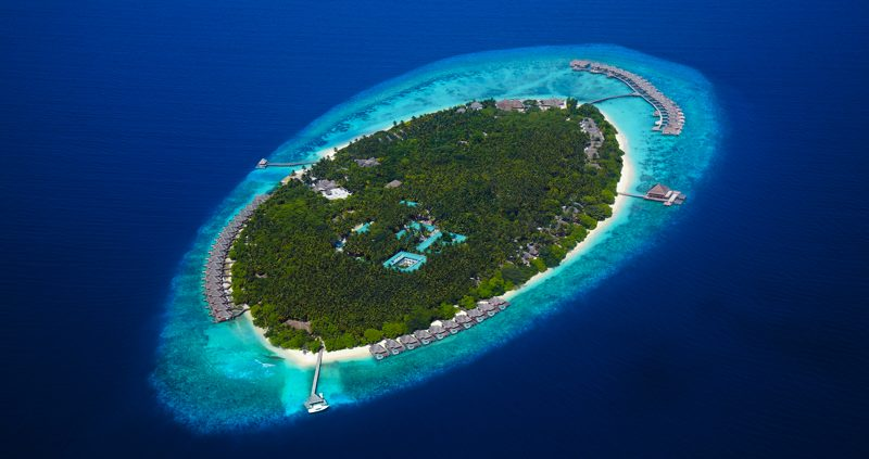 Dusit Thani Maldives Aerial view