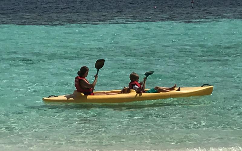 Kayaking at Mirihi