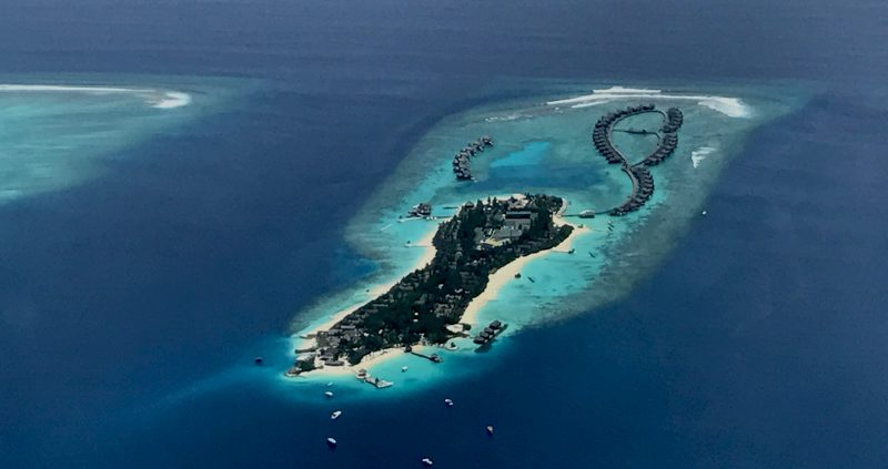 Island in Maldives atolls