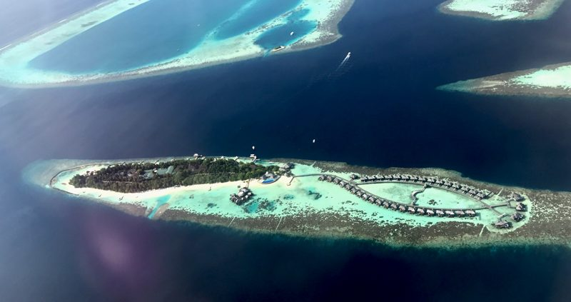 Maldives atolls from above