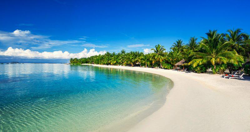 Beach at Sheraton Maldives Full Moon Resort Maldives