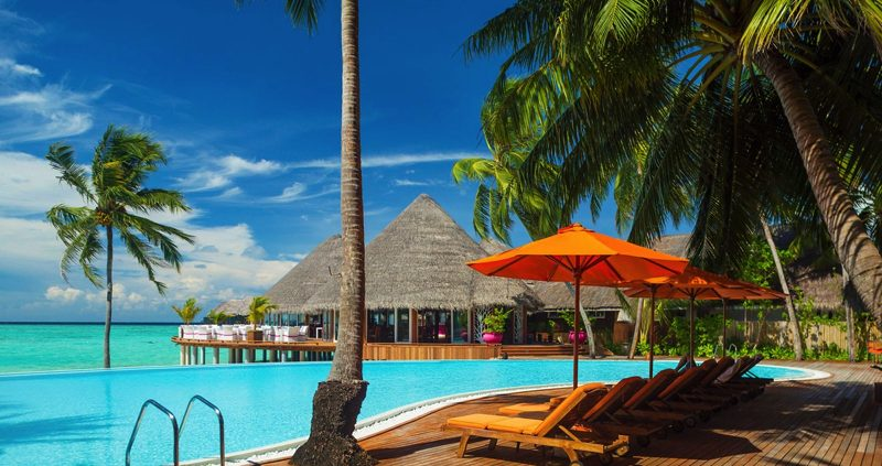 Pool at Vilu Reef Maldives