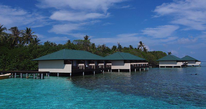 Water villas at Embudu Island Resort Maldives