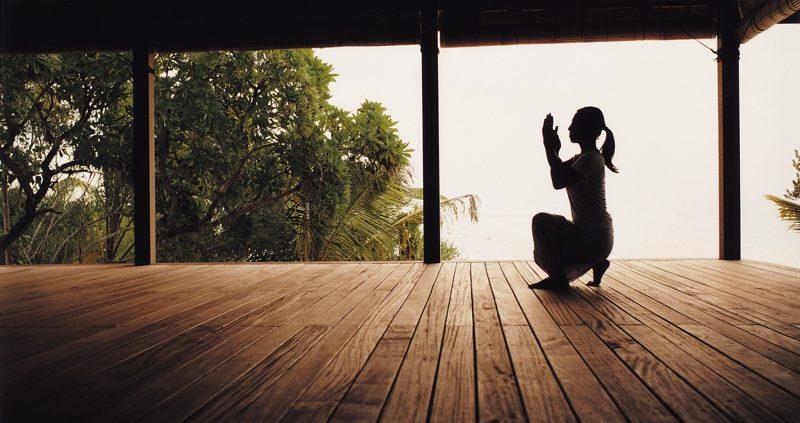 Yoga at Cocoa Island Ressort