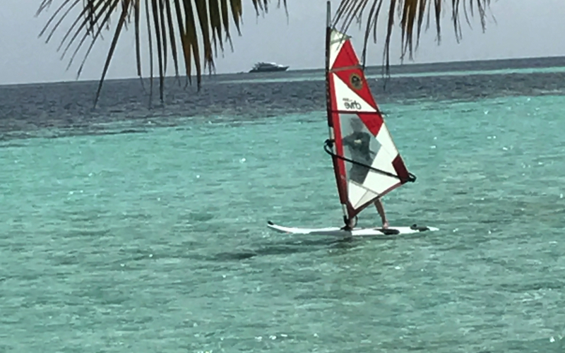 Wind-surfing at Kandolhu