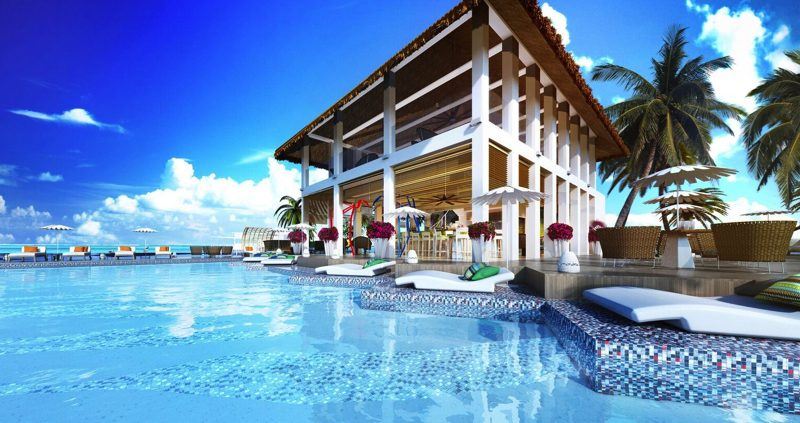 Pool at OZEN Resort Maldives