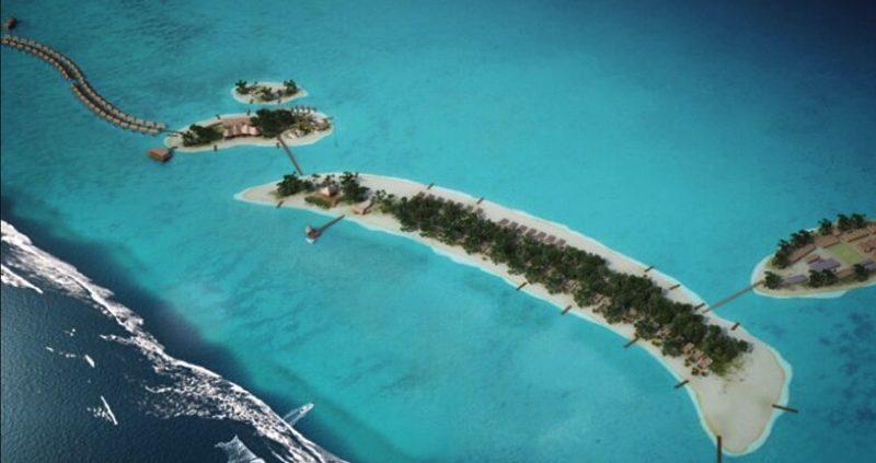 Aerial view of OZEN Resort Maldives
