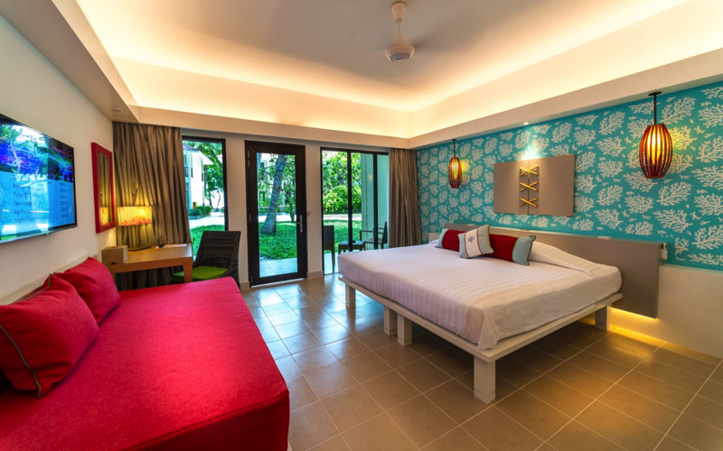 Interior of villa at Club Med Kani Maldives