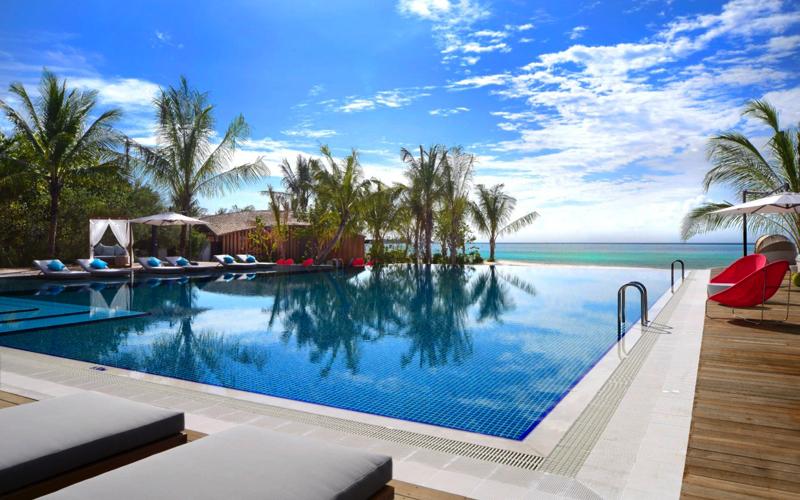 Pool at Club Med Finolhu Villas Maldives