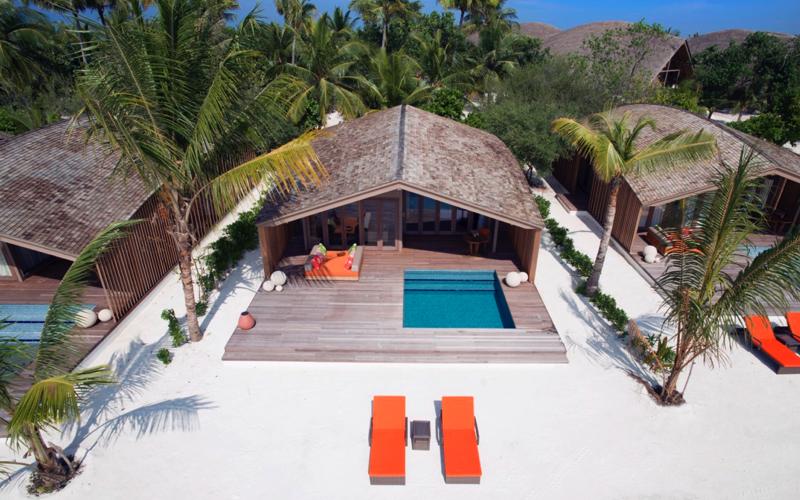 Beach villa at Club Med Finolhu Villas Maldives