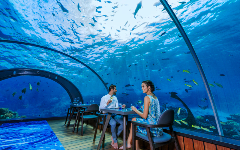 5.8 underwater restaurant at Hurawalhi Island Resort Maldives
