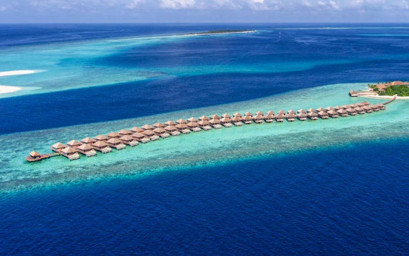water villas at Hurawalhi Island Resort Maldives