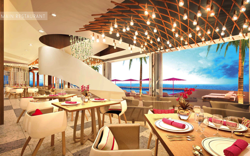 main rstaurant at LUX Resorts Maldives, North Male Atoll