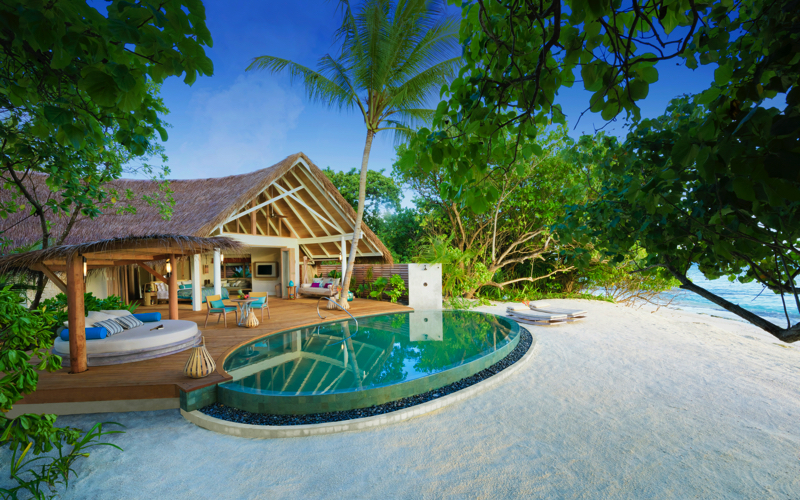 Milaidhoo Island Resort Maldives beach villa with pool