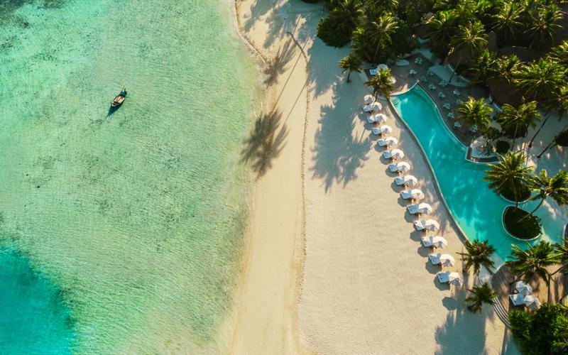Maalifushi Island Resort Aerial View