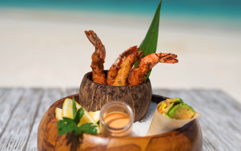 Finolhu Island Resort, crab shack