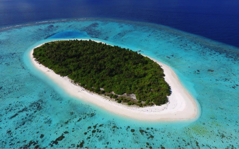Faarufushi Island Resort aerial view