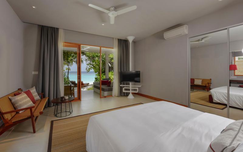 villa interior at Dhigali Maldives Resort