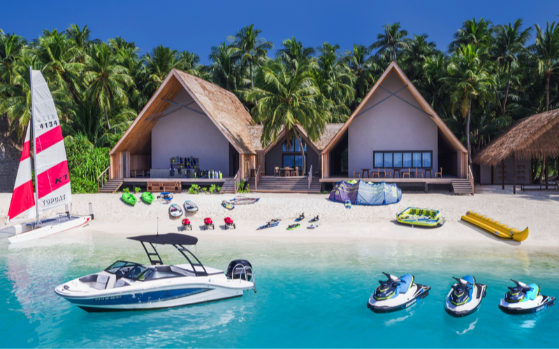 St Regis Vommuli Resort water sports centre