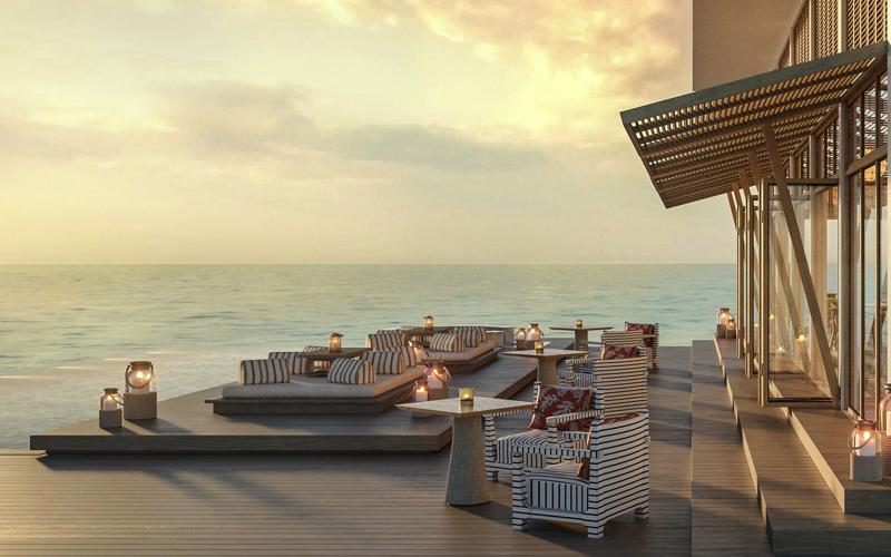Yapa sunset bar at Raffles Maldives Meradhoo Resort