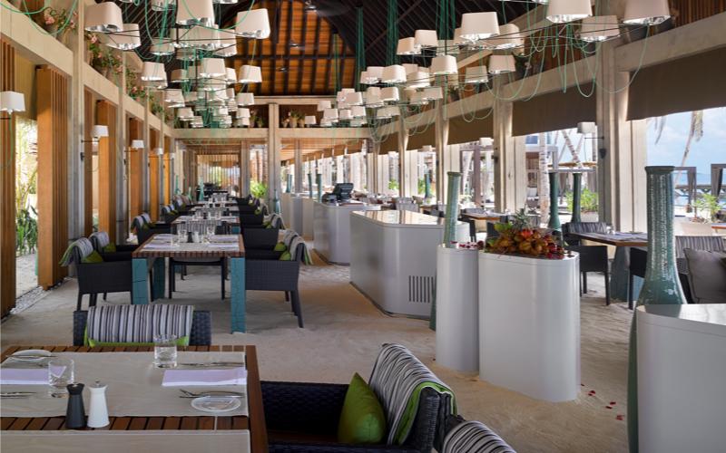 Restaurant at Velaa Private Island Maldives