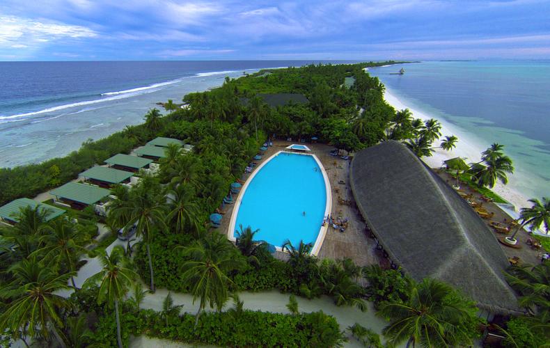 Canareef Resort Maldives aerial veiw